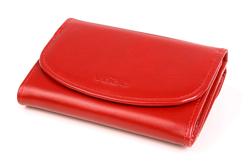 Ergonomiczny portfel damski w kolorze czerwonym