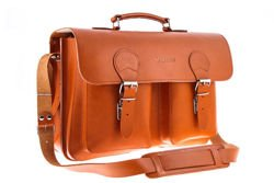 BIG leather laptop satchel VOOC 3in1 Vintage P36