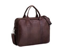 Leather Bag Brodrene Dark Brown
