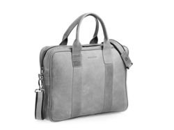 Leather Bag Brodrene Grey