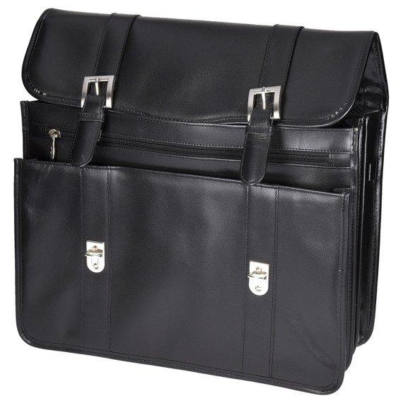 """15.6"""" Leather Double Compartment Laptop Case Mcklein Flournoy"""