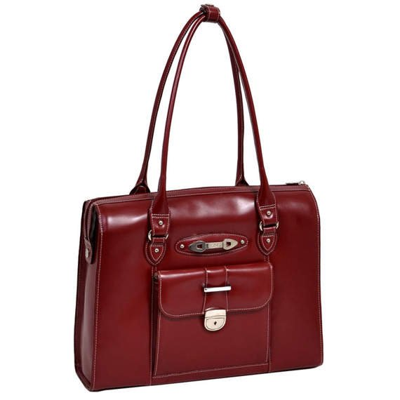 "15.6"" Leather Ladies' Briefcase Mcklein River Forest"