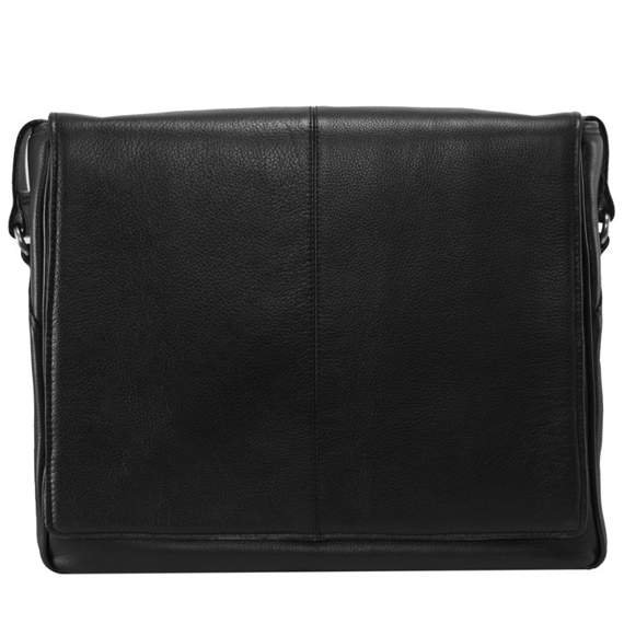 "15.6"" Leather Messenger Bag Mcklein San Francesco"