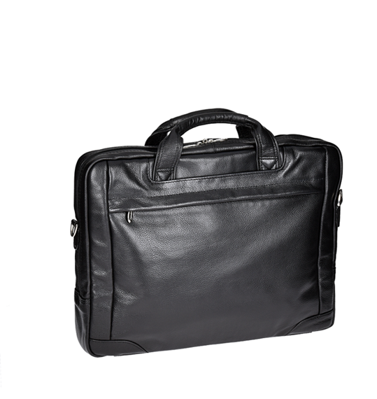 "17"" Leather Large Laptop Brief Mcklein Bridgeport"