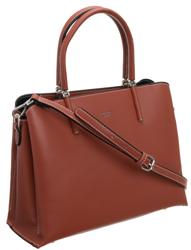 Czerwona klasyczna torebka damska do biura David Jones® CM5631 B.RED