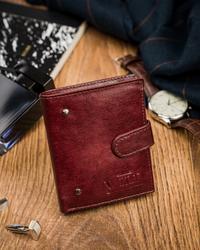 Mały skórzany portfel męski Always Wild®  N20197L-VTK-N WINE