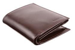 Piękny skórzany portfel męski PPM4 Brązowy