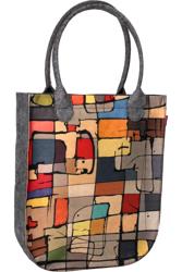 Pojemna torebka damska shopper bag filcowa A4