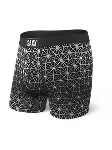 Bokserki Męskie SAXX Ultra Boxer Brief Fly Black Geo Ice