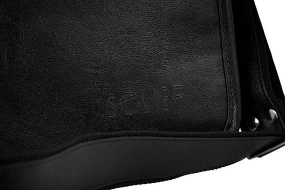 "Czarna męska torba na ramię, laptopa 15,6"" SOLIER S13"