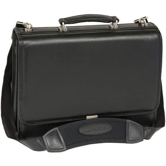 "Bucktown 15,6"" czarna teczka męska na laptopa"