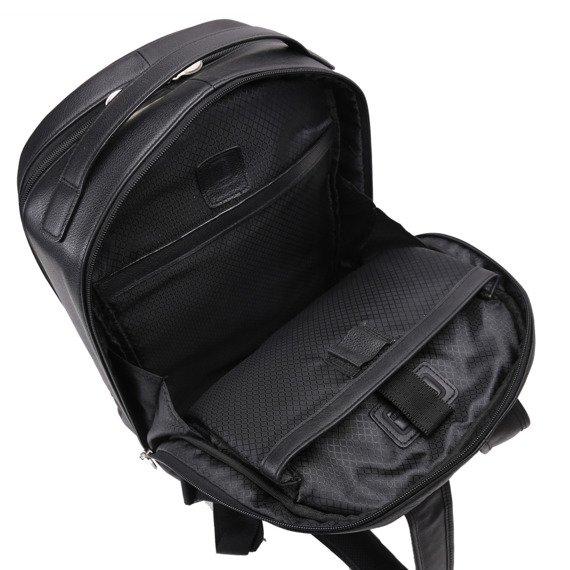 """Czarny plecak Parker ze skóry naturalnej na laptopa 15,6"""""""