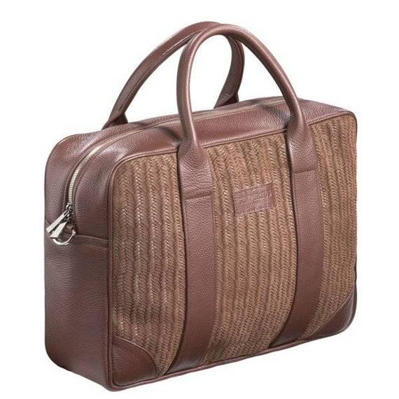 """Duża Skórzana torba biznesowa na laptopa 15,6"""" na ramię Sempertus"""