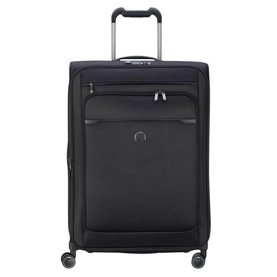 Duża i pojemna czarna walizka Delsey PILOT 5 75 cm