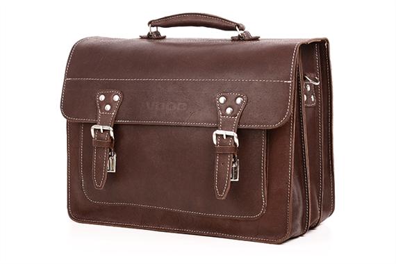 Duża torba skórzana biznesowa na laptopa TC8