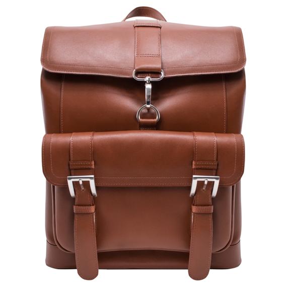 Ekskluzywny skórzany brązowy plecak Hagen