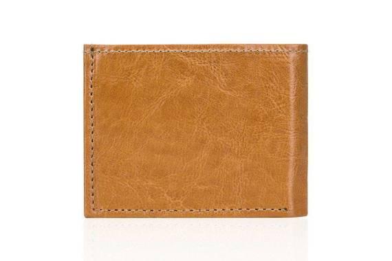 Elegancki skórzany męski portfel SOLIER SW06 camel