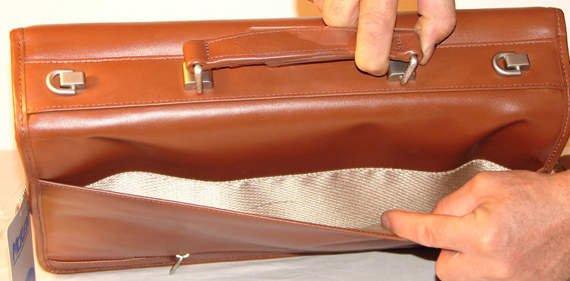 "Lexington Brown 17"" teczka ze skóry naturalnej brązowa"