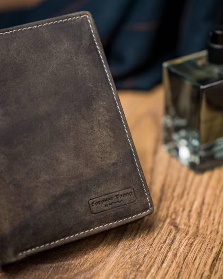Oryginalny portfel męski skórzany Cavaldi®