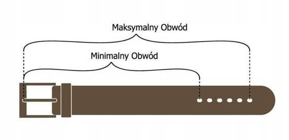 Pasek męski brązowy skórzany ROVICKY PRS-06-BGE 88-103