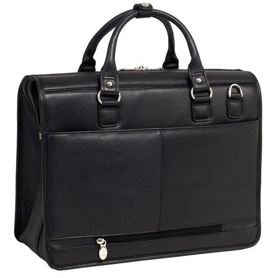 """Skórzana Teczka męska Gresham na laptopa 15,6"""" w kolorze czarnym"""