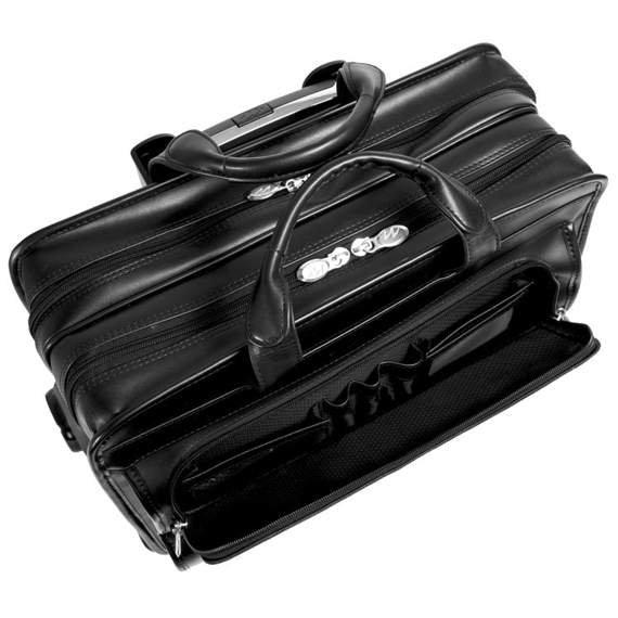 """Skórzana Torba podróżna na kółkach na laptopa Franklin 17"""""""