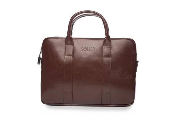 """Skórzana męska torba na laptopa 15,4"""" Solier SL20 EDYNBURG"""