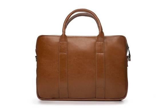 Skórzana męska torba na laptopa Solier SL20 EDYNBURG brązowa