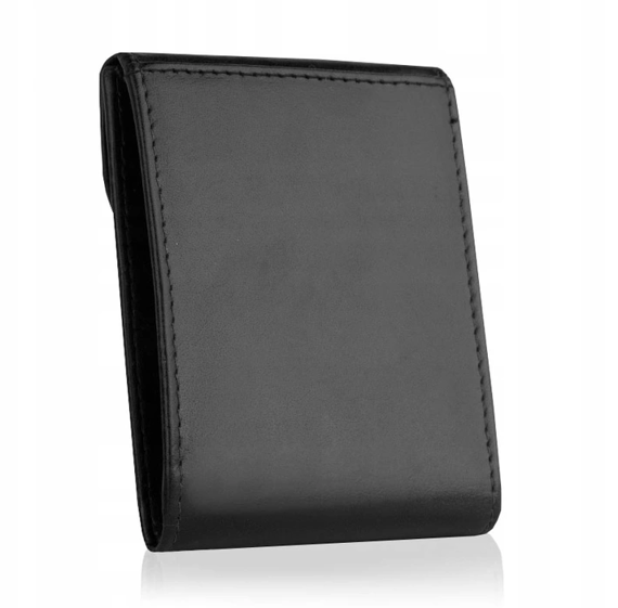 Skórzane etui na dokumenty wizytówki bez-03 czarne