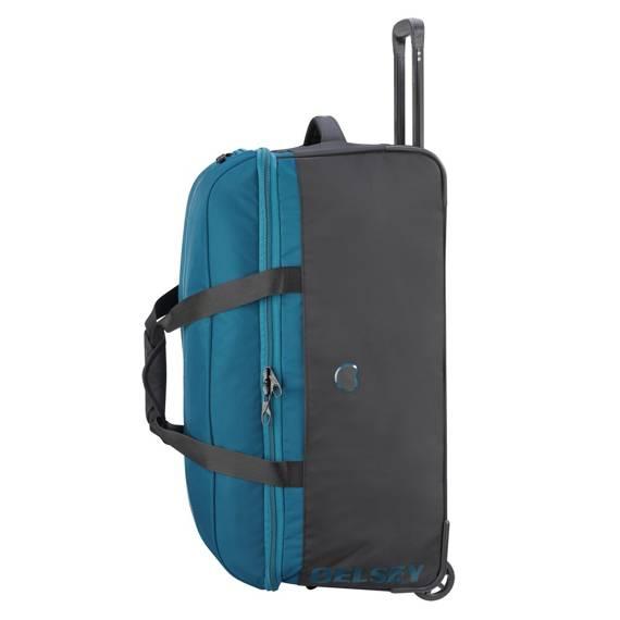 Torba podróżna średnia Walizka Delsey EGOA 69 cm niebieska