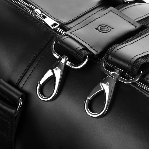 Torba podróżna za skóry naturalnej brodrene smooth leather r20 czarny