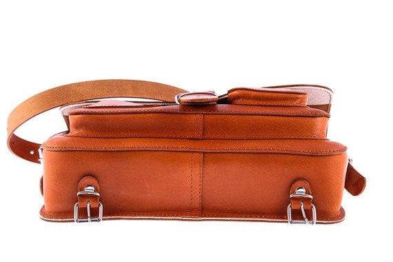 Uniwersalna Brązowa Teczka skórzana z funkcją plecaka 3w1 Vintage P13